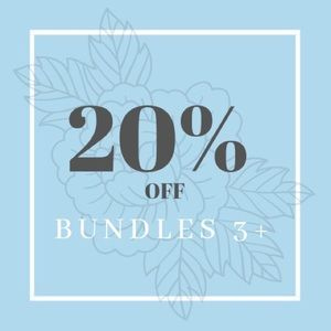 20% OFF 3+ BUNDLES